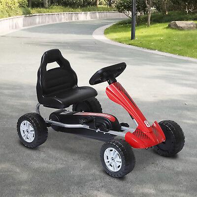 Coche de Pedales Go Kart Racing Deportivo Asiento Ajustable para Niños 3-8 Años