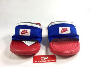 New-Nike-Sportswear-Benassi-Jdi-Fanny-Pack-Ao1037-601-Sandals-Bright-Crimson-n1