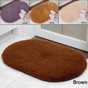 Ovale Antirutsch Absorptions Badteppich Matte Badezimmer Boden