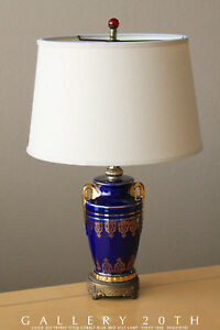GORGEOUS-LOUIS-XIV-EMPIRE-SEVRES-STYLE-ROYAL-PORCELAIN-LAMP-COBALT-BLUE-1940