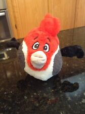 Angry Birds Rio Pedro Red White Grey Plush Stuffed Animal no sound