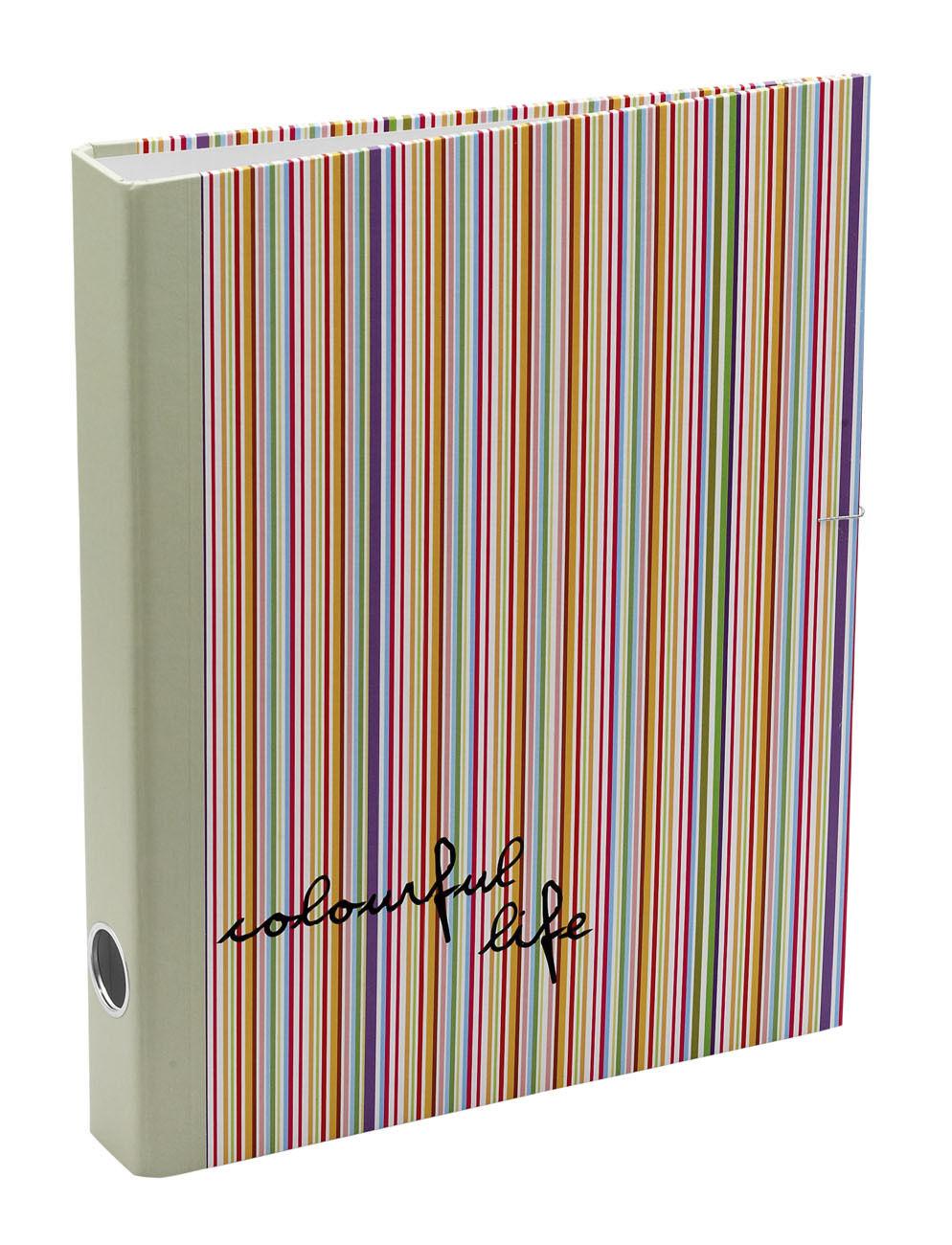 50 x Job Lot A4 Stripy Ring Binders Folder Office School Stationery By Katz