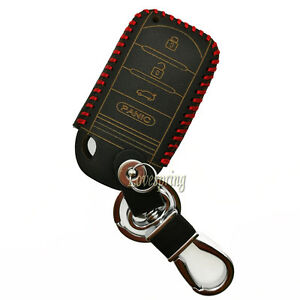 Leather Key Remote Fob Case Cover Skin Shell For Acura MDX ...