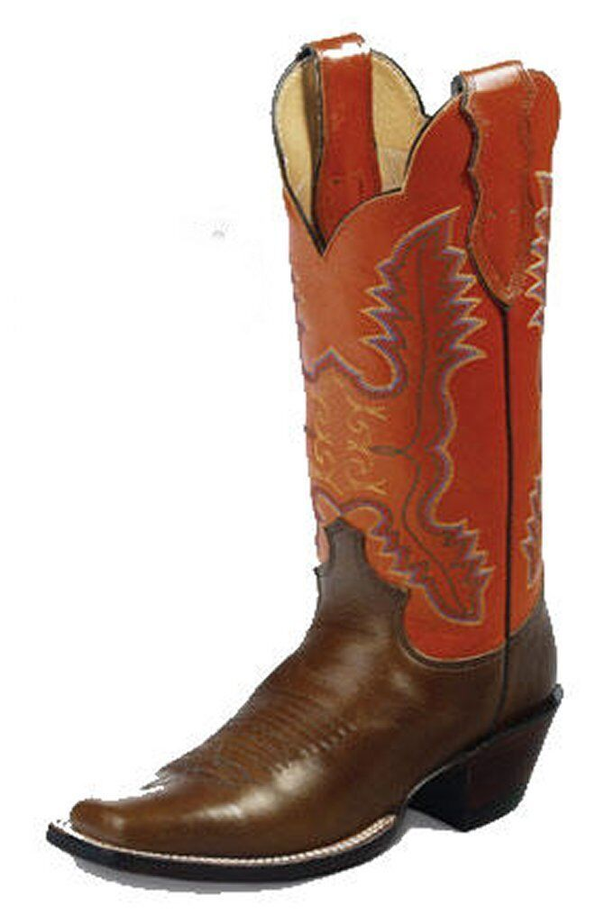 Justin Womens L2659 Vintage Wildfire orange Western Cowgirl Boots 8B New USA