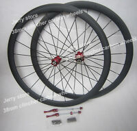 popular bike wheelset 700C 38mm clincher carbon wheels road use!