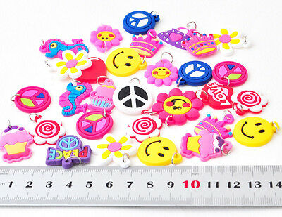10 Cute Charms for RAINBOW LOOM BRACELET NECKLACE SILICONE RUBBER BANDS