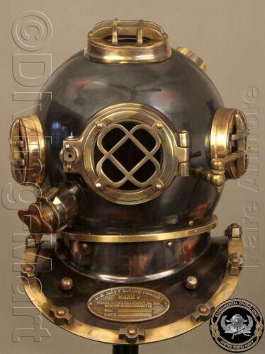 """Divers Helmet Replica Antique Scuba 18/"""" Diving Helmet U.S Navy Mark V Vintage"""