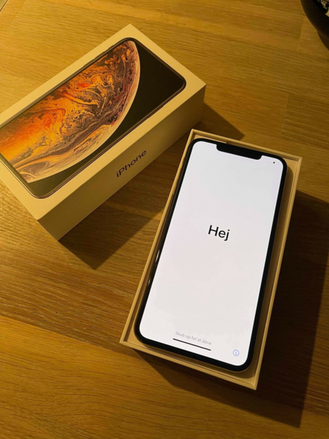 iPhone XS Max, 64 GB, guld, God, Super fin IPhone XS Max 64…