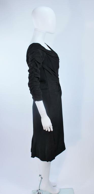 CEIL CHAPMAN Black Gathered Cocktail Dress Size 4… - image 7