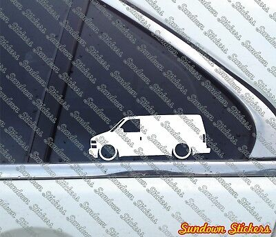 1995-2005 for Chevrolet Astro Cargo Van 2X lowered van stickers stanced