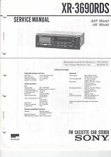 SONY Service Manual Konvolut XR-3690RDS XR-3700RDS - B2016