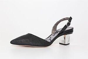 baf9d16f5a8 Sam Edelman Women s Black Carol Back Strap Mini Block Heels 4507 Sz ...