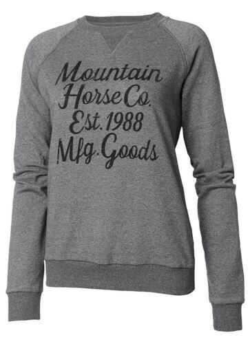 Mountain Horse Street Da donna glitter scollo tondo Inverno Caldo Maglione Pullover Nuovo