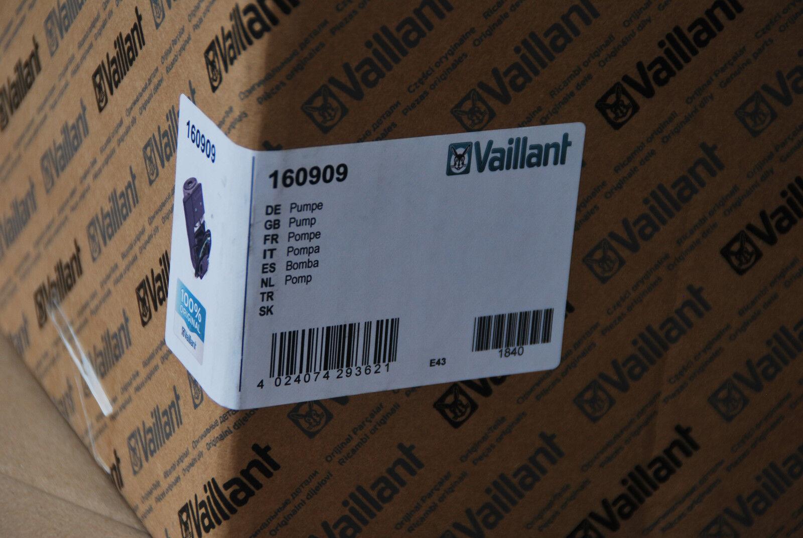 VAILLANT 160909 16-0909 PUMPE VHR 18-22 ECOMAX UMWÄLZPUMPE POMP NEU