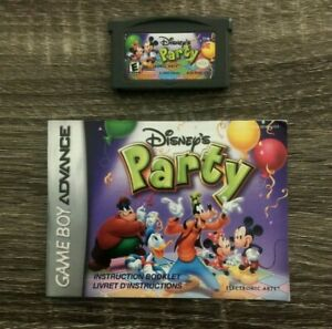 Disney's Party - Nintendo Game Boy Advance GBA Game + Manual