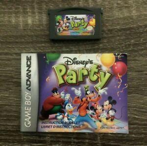 Disney's Party - Nintendo Game Boy Advance GBA Game + Manual