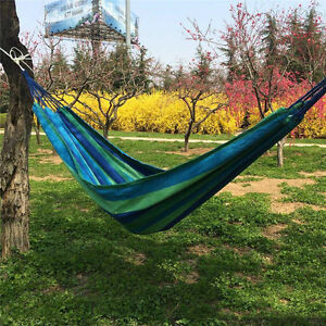 Image Is Loading Portable 2 Person Cotton Rope Hanging Camping Hammock