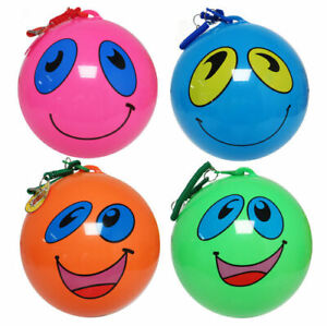 10-034-Fruit-Scented-Ball-On-Keychain-Happy-Face-Kids-Sensory-Toy-Outdoor-Toy
