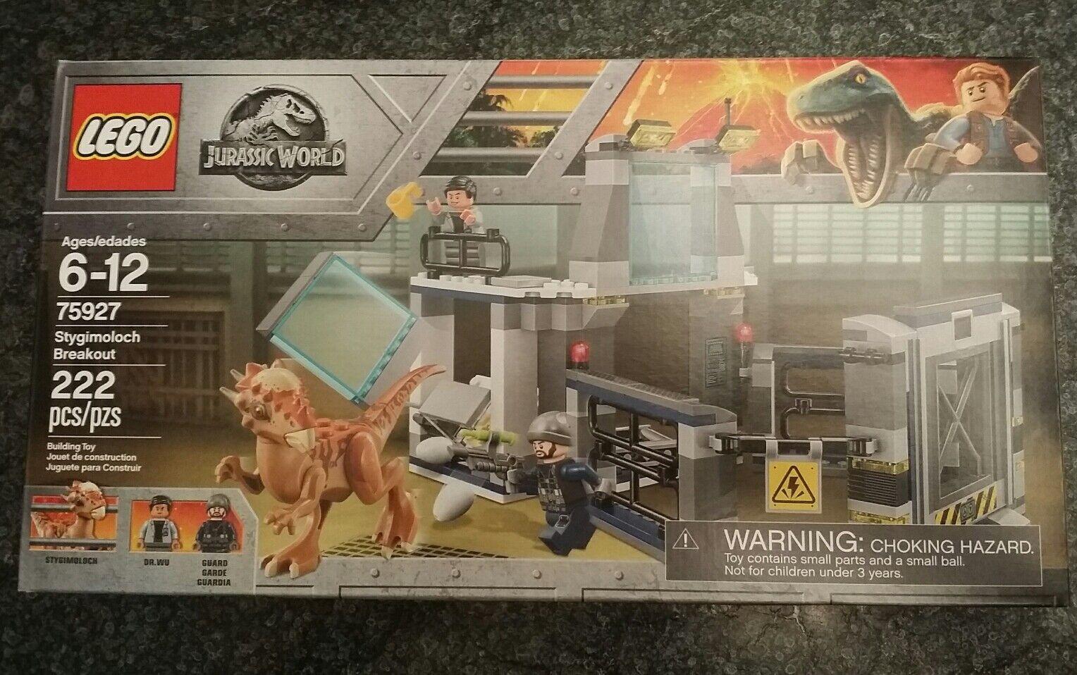 nuovo  LEGO 75927 Jurassic World Ftuttien redom Stygimoloch Breakout  nuova esclusiva di fascia alta