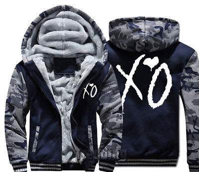 Man women Thick Coat Jacket winter warm xo weeknd music fan hoodie Sweatshirt
