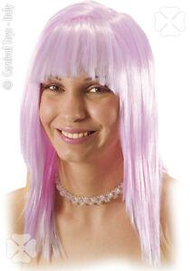 Perruque-034-Lilla-034-rose-pale-43-cm-carre-long-degrade-2562-deguisement-manga