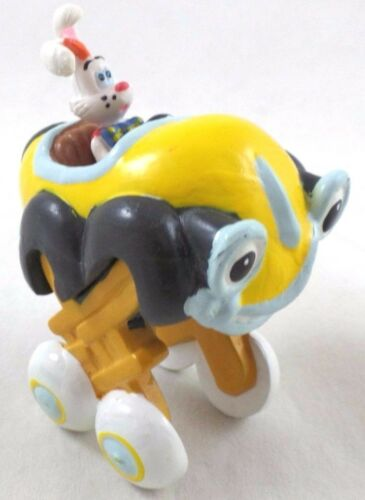Roger Rabbit PVC Figure Toy Elevated Taxi Cab Disney Lot Topper Jessica benny
