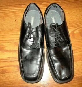 Jarman-Faraday-Mens-Size-11-Black-Leather-Lace-Up-Dress-Oxford-Shoes