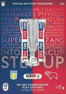 EFL CHAMPIONSHIP PLAY OFF FINAL 2019 ASTON VILLA V DERBY COUNTY