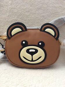 Moschino Teddy Bear Leather Brown
