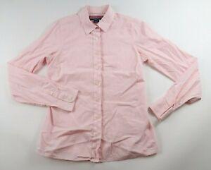 Vineyard Vines Womens Stretch LS Button Up Light Pink Striped Dress Shirt Size 4