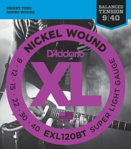 Balanced Tension Super Light D/'Addario Nickel Wound Electric Guitar Strings