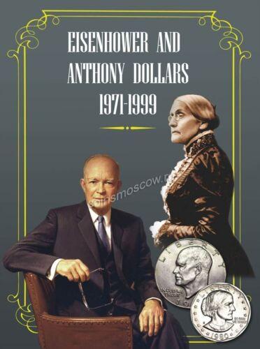 for Eisenhower and Suzan B.Anthony dollars 1971-1999 Folder album