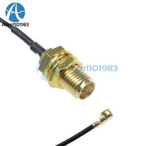 2PCS Mini Pci U.Fl To RP-SMA Antenna Router Mod Kit Wifi Connector Kabel MF