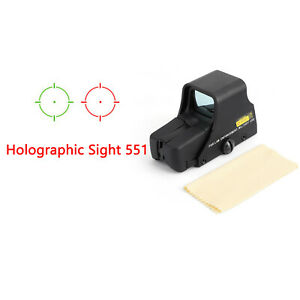 Red-Green-Dot-Holographic-Sight-551-Tactical-Airsoft-Scope-Sight-Brand-New-US