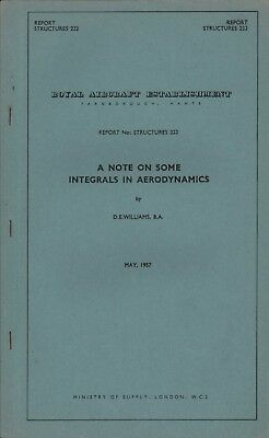 A Note On Some Integrals In Aerodynamics. 1957. Hl1.144