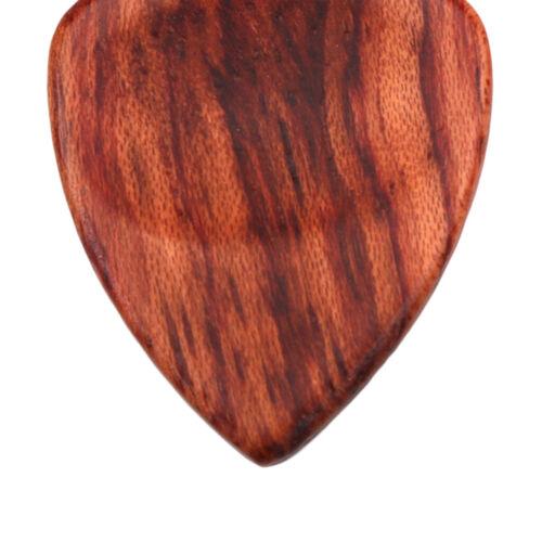 Plektrum Plektron in Herzform für 2 x Palisander Gitarre Plektren