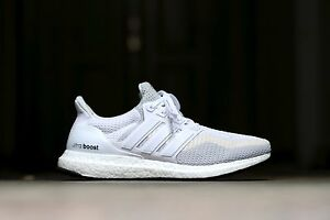 size 40 e2915 77c4e Image is loading ADIDAS-ULTRA-BOOST-W-WHITE-CLEAR-GREY-9US-