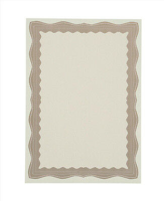 60 QUALITY BLANK CERTIFICATE PAPER + FOIL SEALS A4 BRONZE/GOLD/BROWN BORDER ©