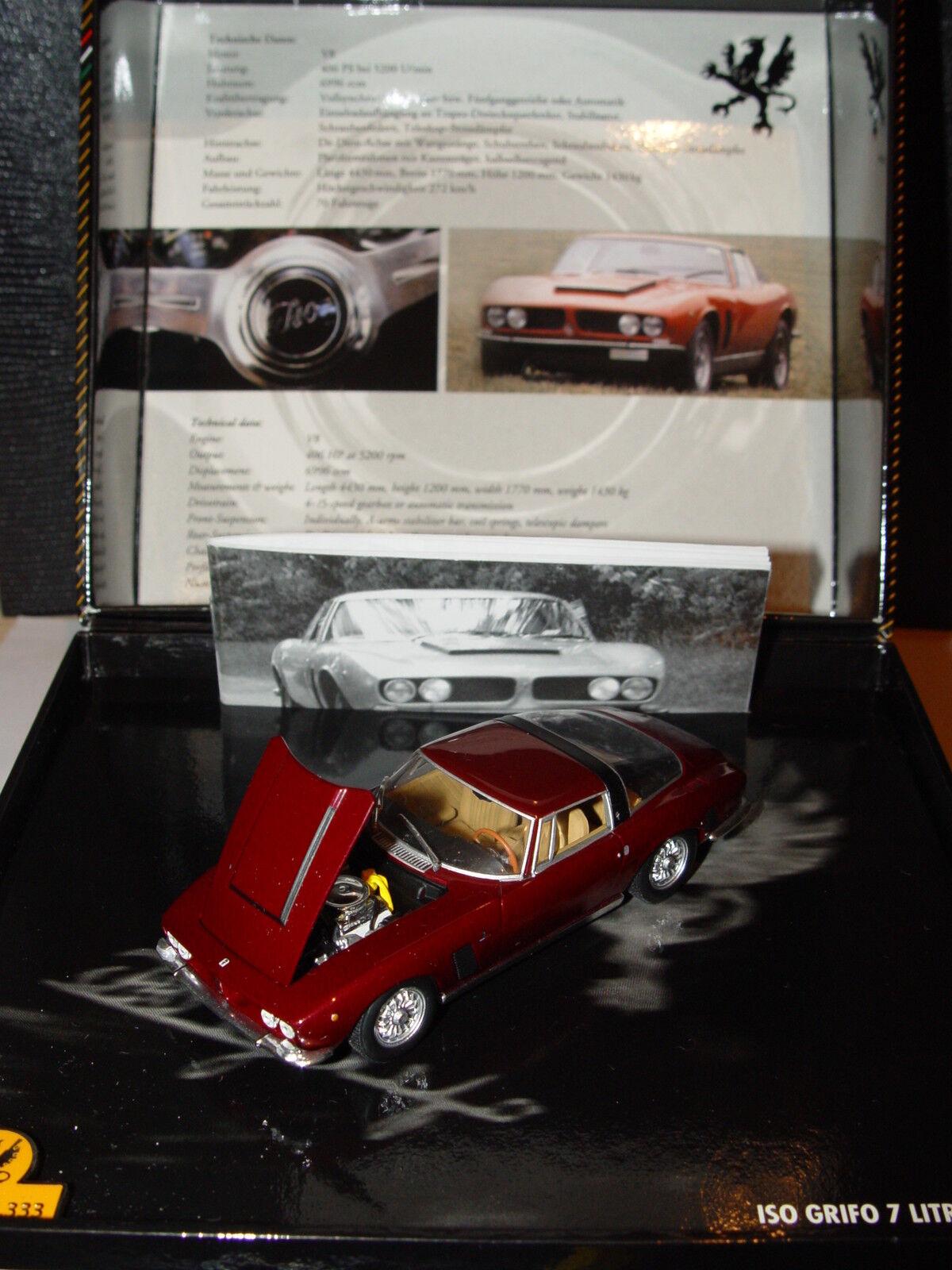 Joyeuses fêtes  Meilleure offre! ISO Grifo 7 litri 1968 Minichamps 1/43e   De Haute Qualité Et Peu Coûteux