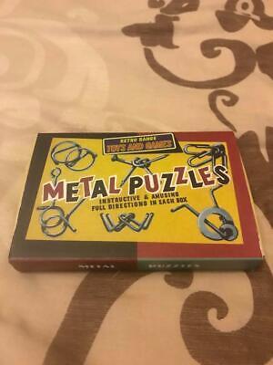 Gamma Retrò In Metallo Puzzle Set Di 6-mostra Il Titolo Originale Buono Per Succhietto Antipiretico E Per La Gola