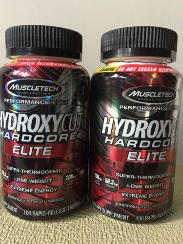 SUPER THERMOGENIC HYDROXYCUT HARDCORE ELITE 200 CAPS STRONG FAT BURNER