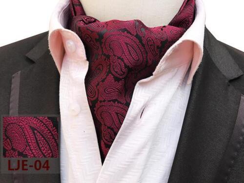 Lila Schwarz Rosa Rot Blau Grün Weiß Paisley Seidenmischung Krawatte Ascot