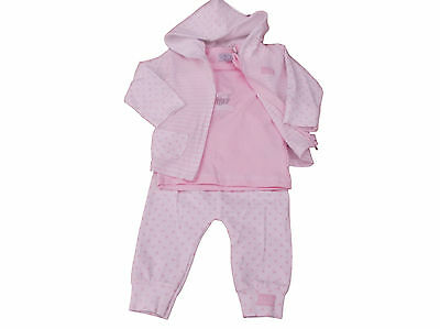 BNWT Baby Girls hooded jacket top and trousers  Clothes 3 piece Set 4 sizzes
