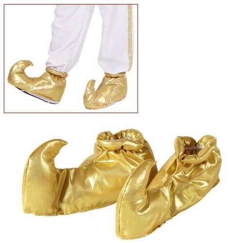 GOLDENE SCHUHÜBERZIEHER Orient Märchen Sultan Scheich Araber Kostüm Schuhe 9563
