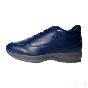 Dettagli su Scarpe Uomo Henry Cotton s Sneakers Basse Blu Eco Pelle Lacci  Casual SARANI 045c575aaa2
