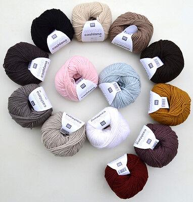 15,96€/100g Rico Design cashlana dk weiche Wolle mit Kaschmir & Merino Babywolle