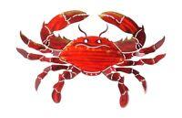 Orange Crab Seashore Ocean 3d Metal Wall Art Home Decor Made In Usa