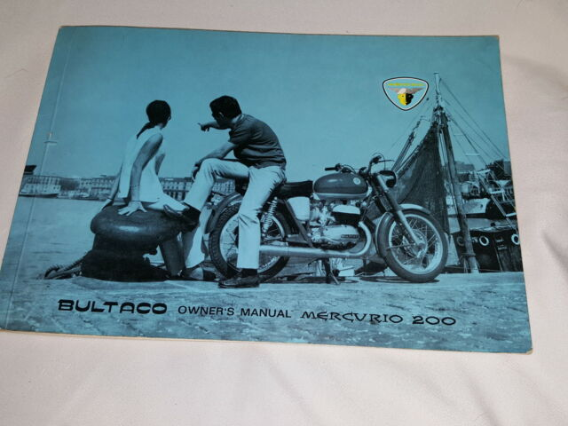 BULTACO MERCURIO 200 MODEL 35 OWNERS MANUAL ORIGINAL...NOT A COPY- RARE VINTAGE