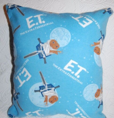 THE EXTRA TERRESTRIAL FLANNEL  PILLOW SAME FABRIC FRONT /& BACK NEW HANDMADE E.T