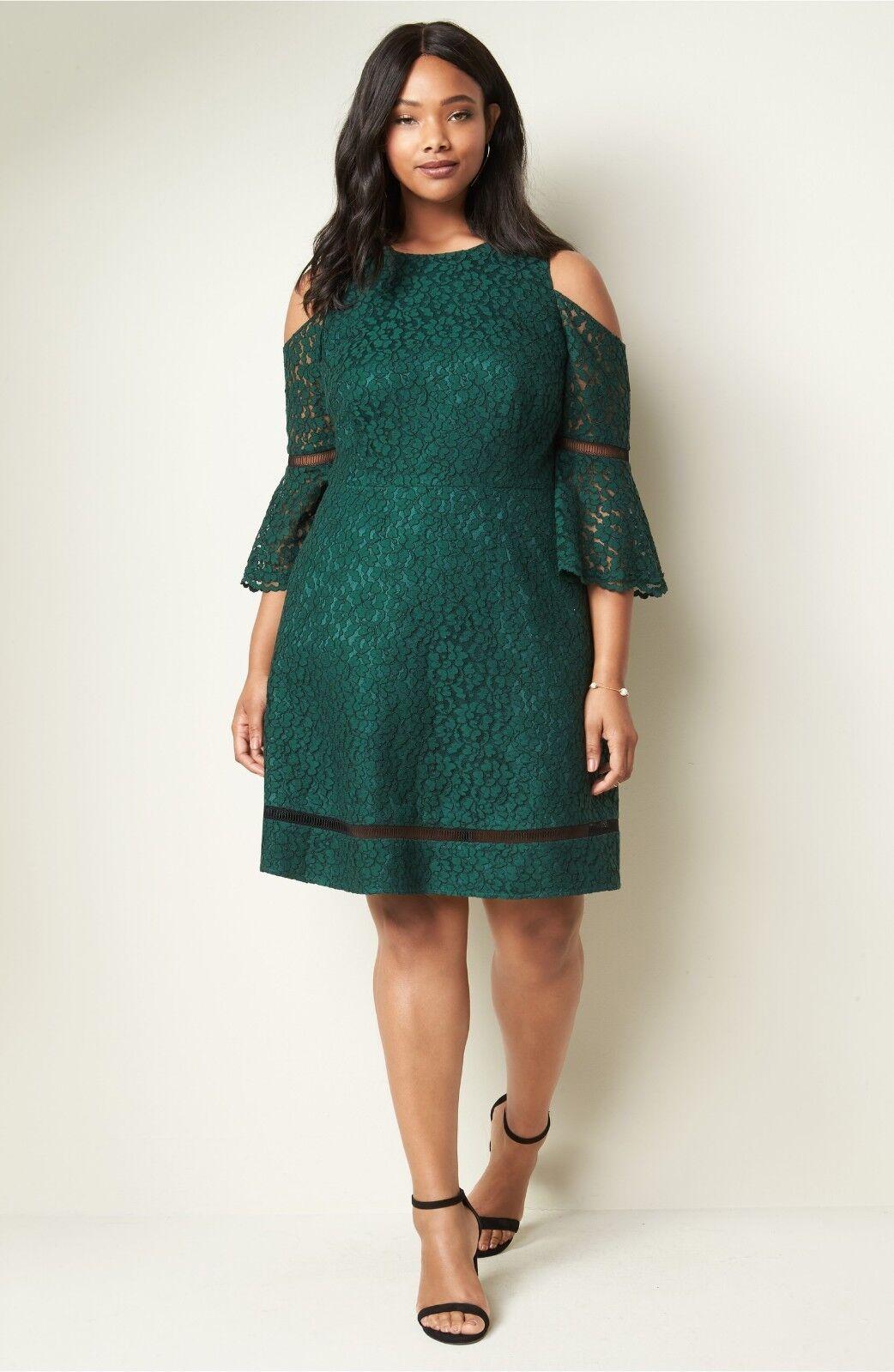 Eliza J J J  Cold Shoulder Lace Dress ( Size 16W ) 9fb278